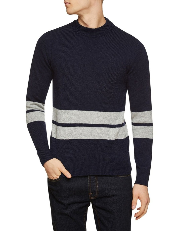 Theo Striped Lambswool Crew Neck image 1