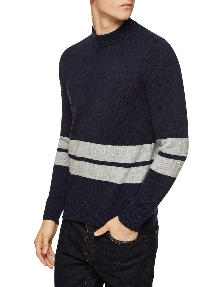 Theo Striped Lambswool Crew Neck image 2