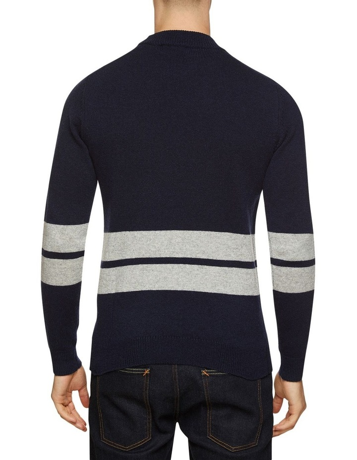 Theo Striped Lambswool Crew Neck image 3