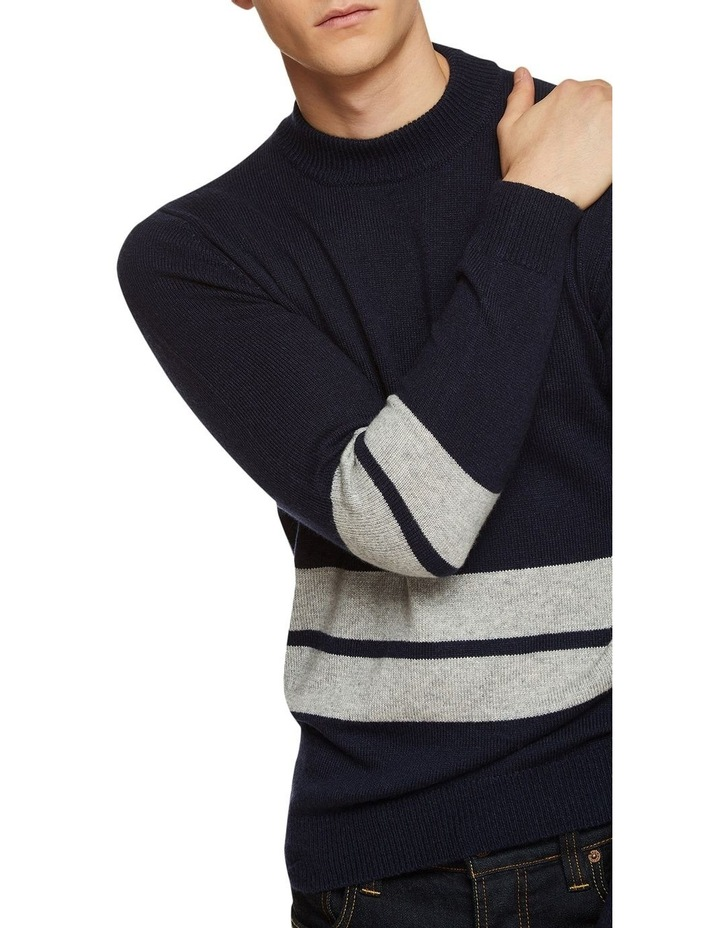 Theo Striped Lambswool Crew Neck image 4