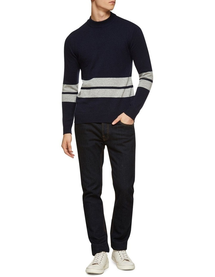 Theo Striped Lambswool Crew Neck image 5