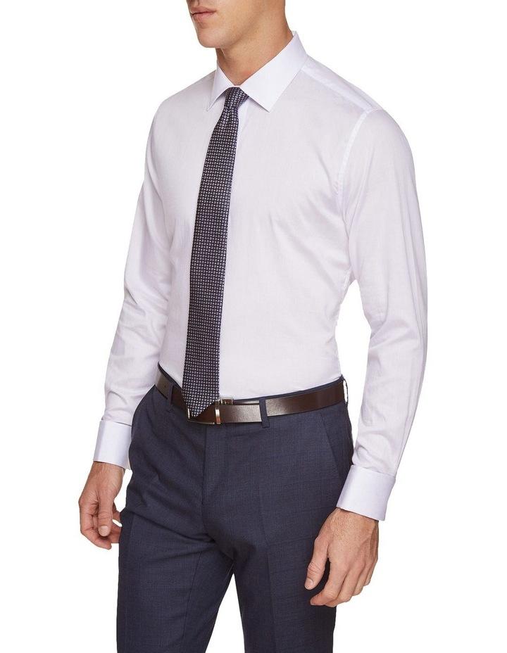 Beckton Dobby White French Cuff Shirt image 1
