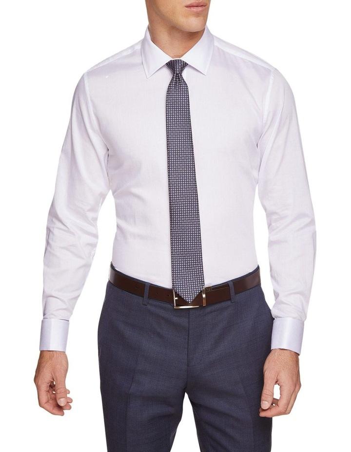 Beckton Dobby White French Cuff Shirt image 2