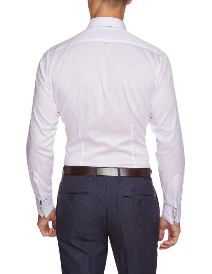 Beckton Dobby White French Cuff Shirt image 3