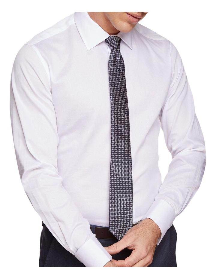 Beckton Dobby White French Cuff Shirt image 4