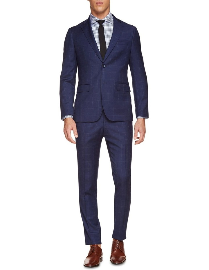 Byron Wool Stretch Check Trousers image 5