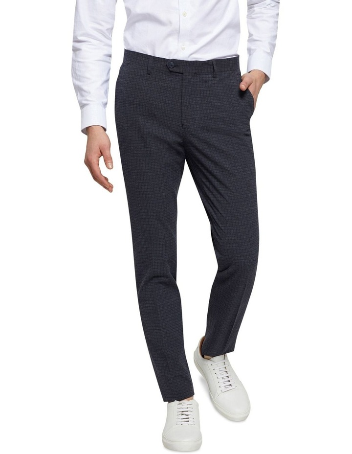 Stretch Checked Trousers image 1