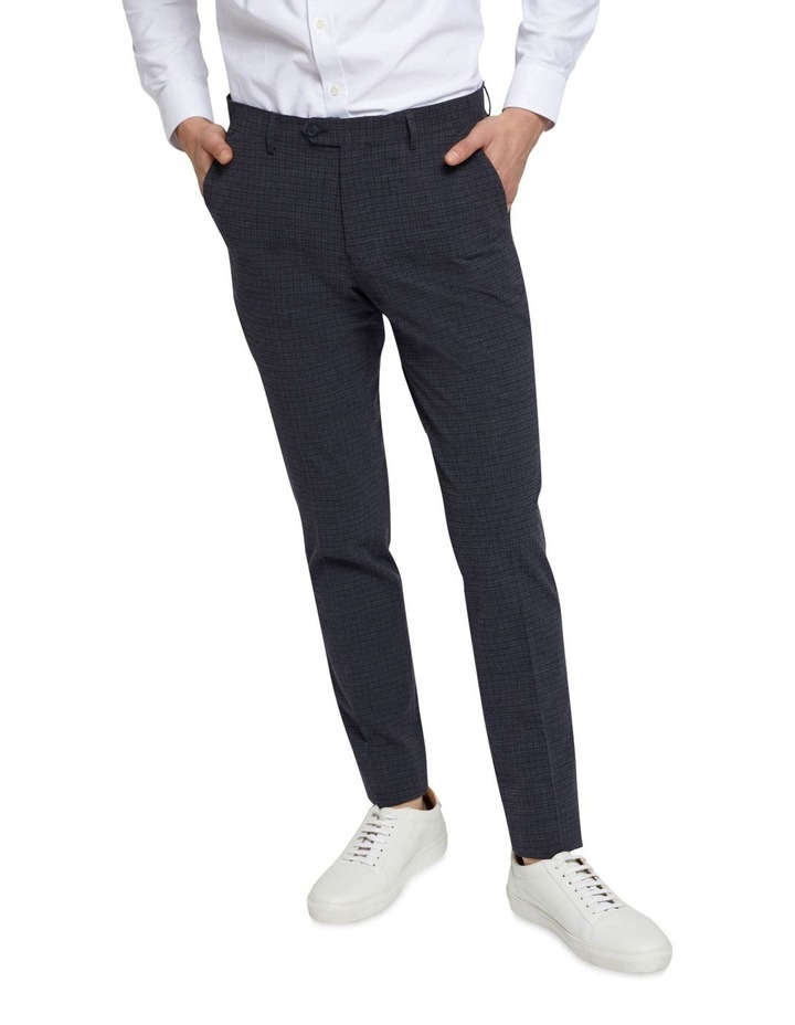 Stretch Checked Trousers image 4
