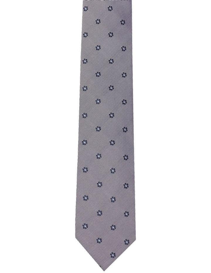 Herringbone Daisy Silk Tie image 1
