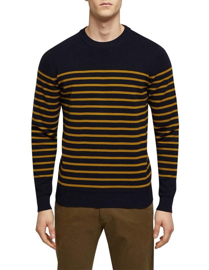 Wyatt Stripe Crew Neck Pullover image 1