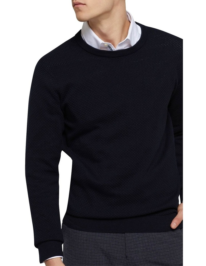 Riley Textured Crew Neck Pullover image 4