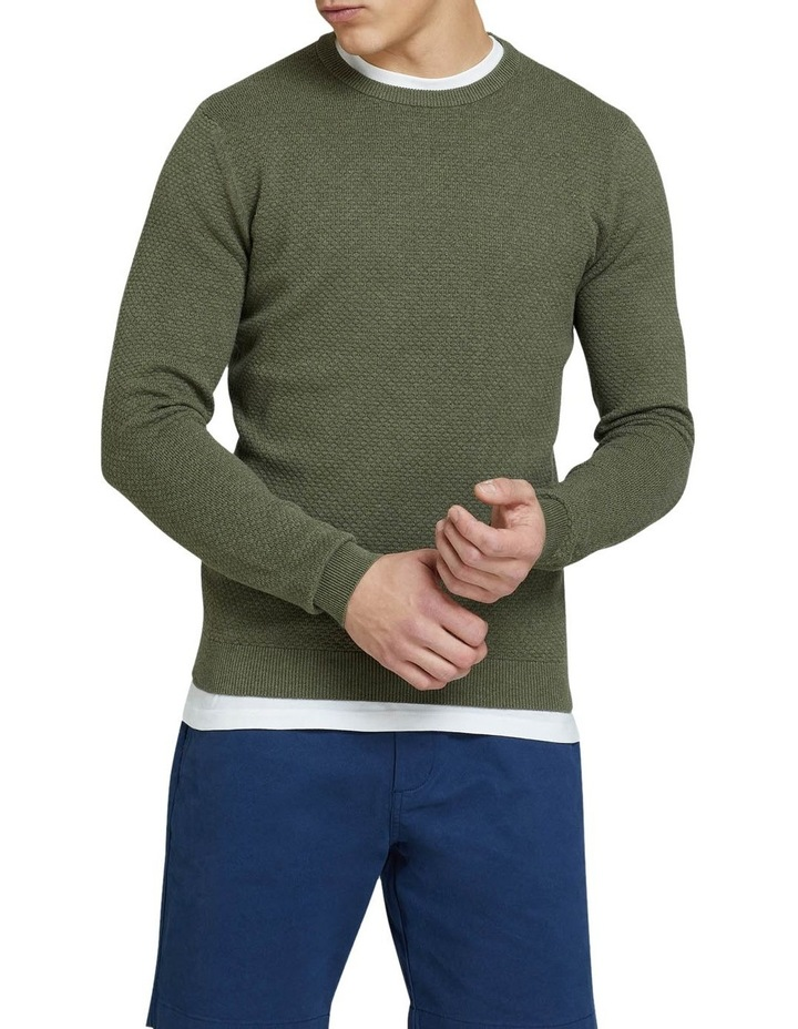 Riley Textured Crew Neck Pullover image 1
