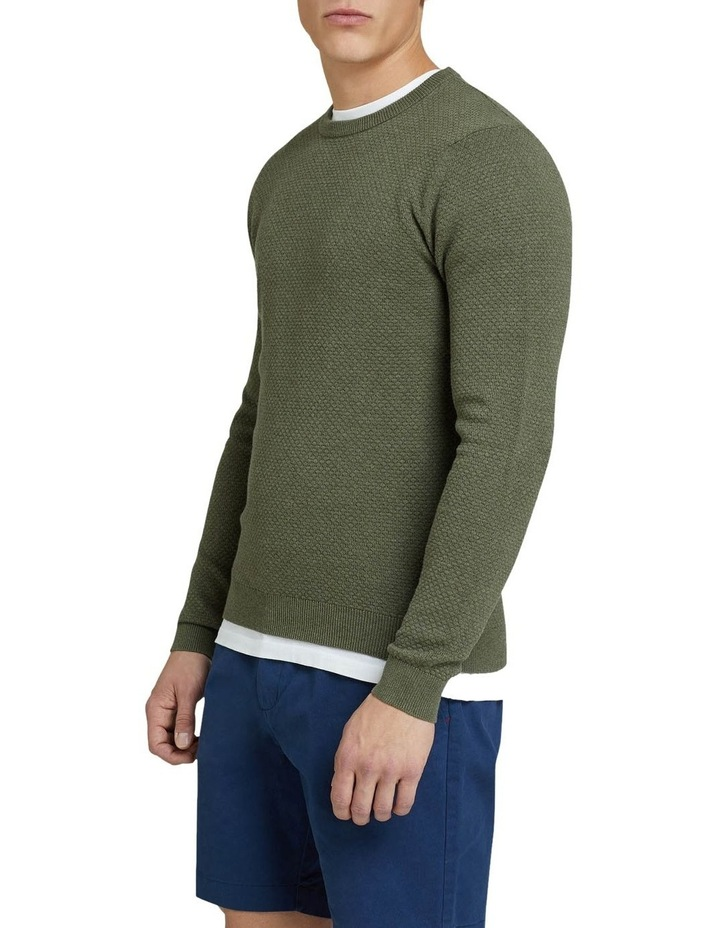Riley Textured Crew Neck Pullover image 2