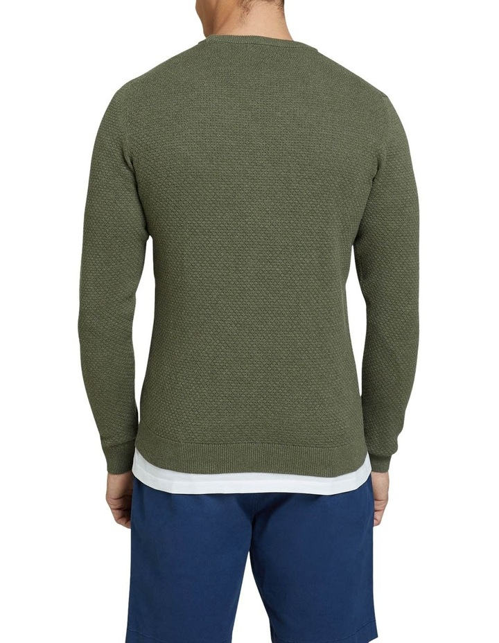 Riley Textured Crew Neck Pullover image 3