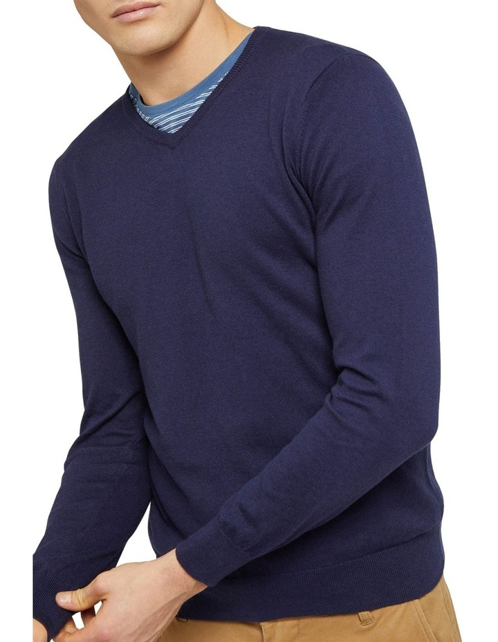Cotton Cashmere V-Neck Pullover image 4