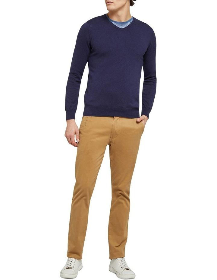 Cotton Cashmere V-Neck Pullover image 5