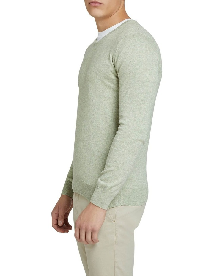 Cotton Cashmere V-Neck Pullover image 2