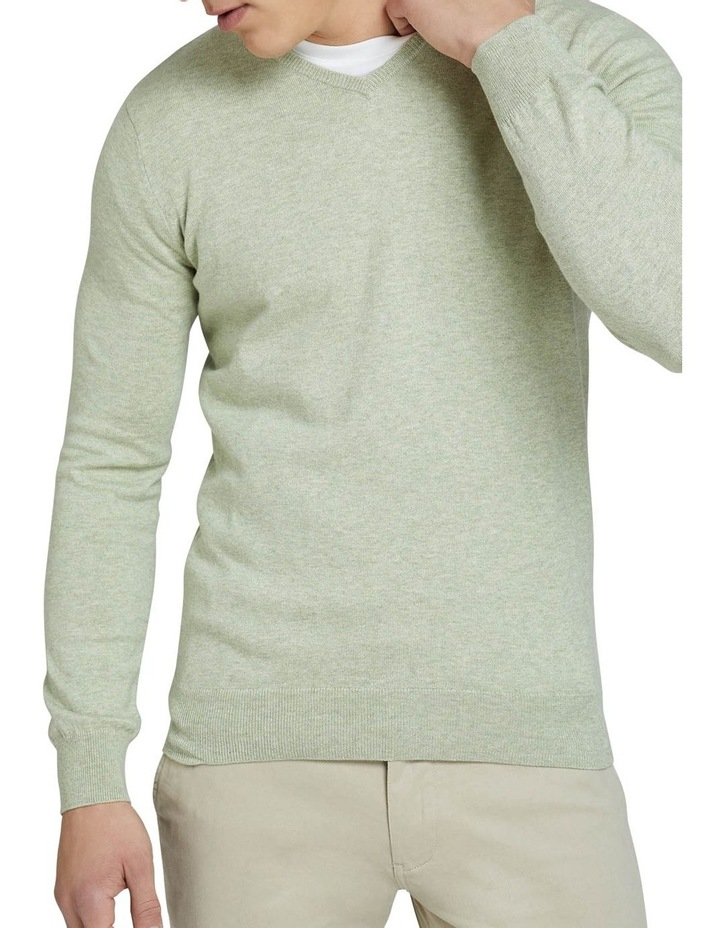 Cotton Cashmere V-Neck Pullover image 4