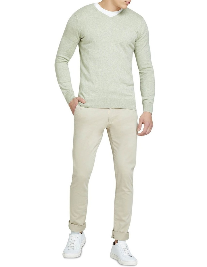 Cotton Cashmere V-Neck Pullover image 5