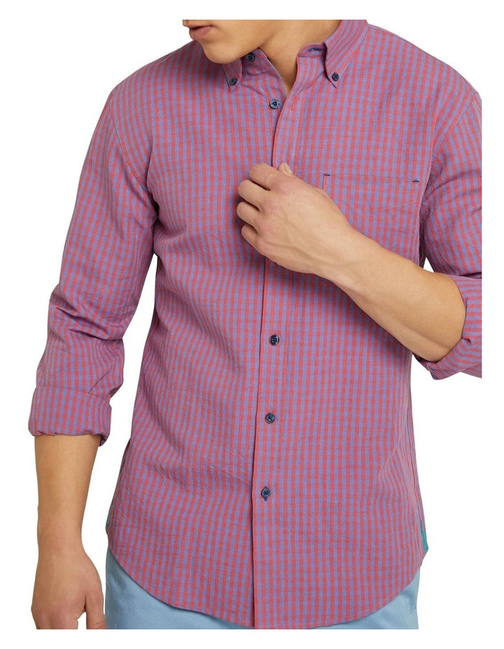 Uxbridge Linen Cotton Check Shirt image 4