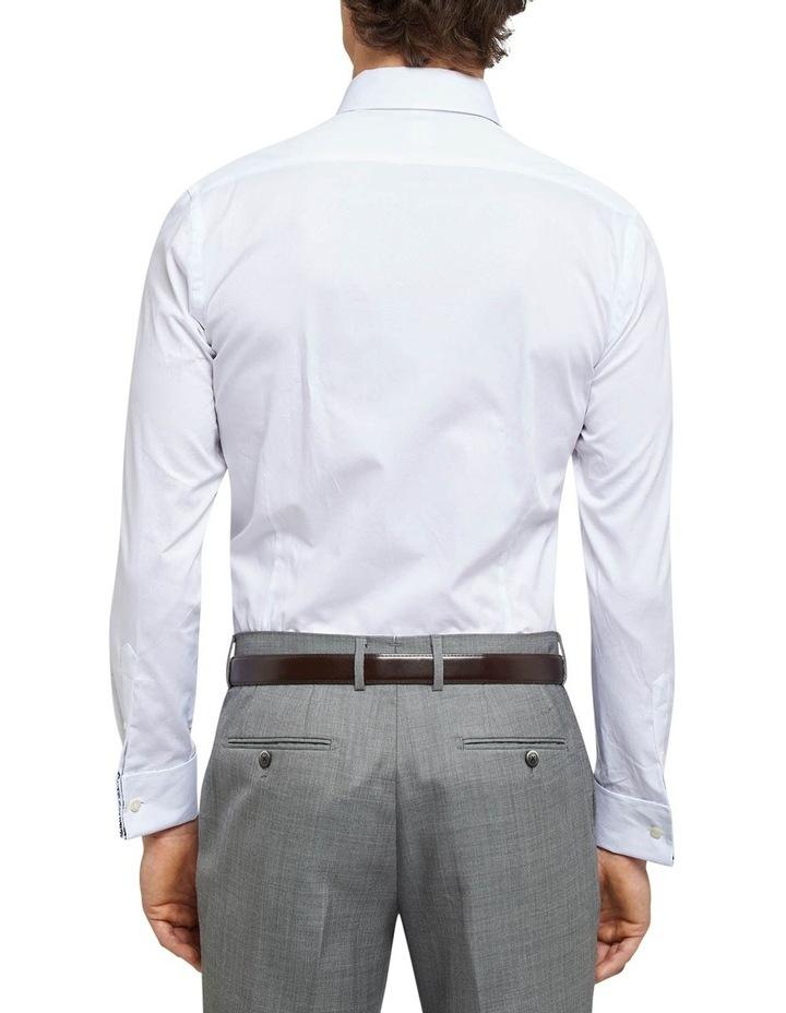 Beckton French Cuff Dobby White Shirt image 2