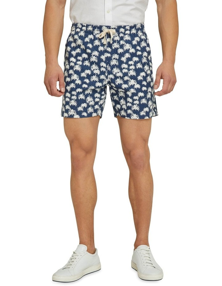 Toby Palm Tree Linen Cotton Shorts image 1