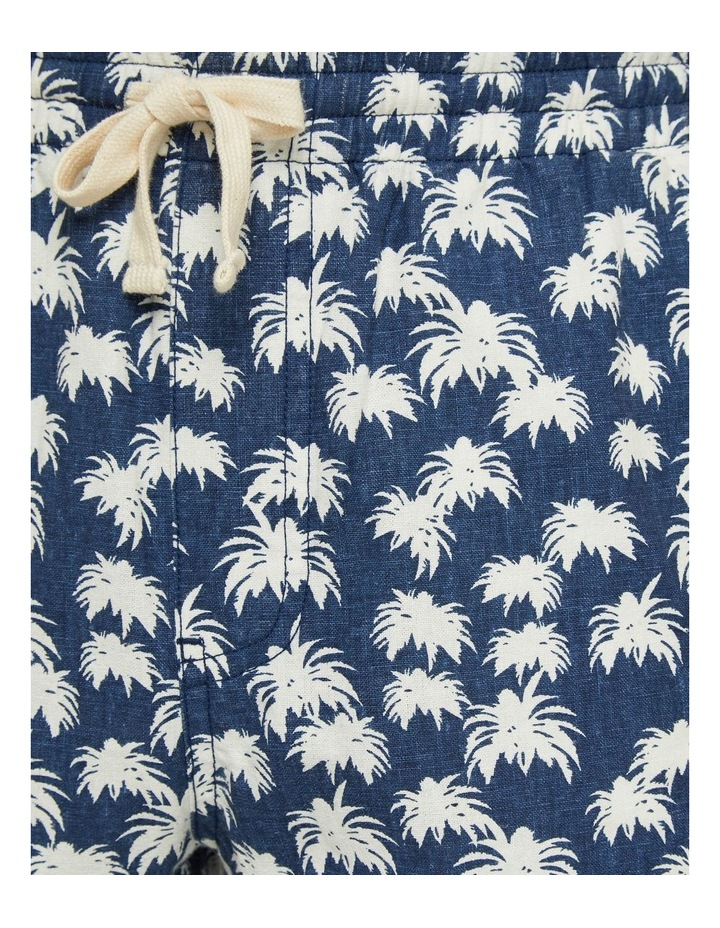 Toby Palm Tree Linen Cotton Shorts image 6