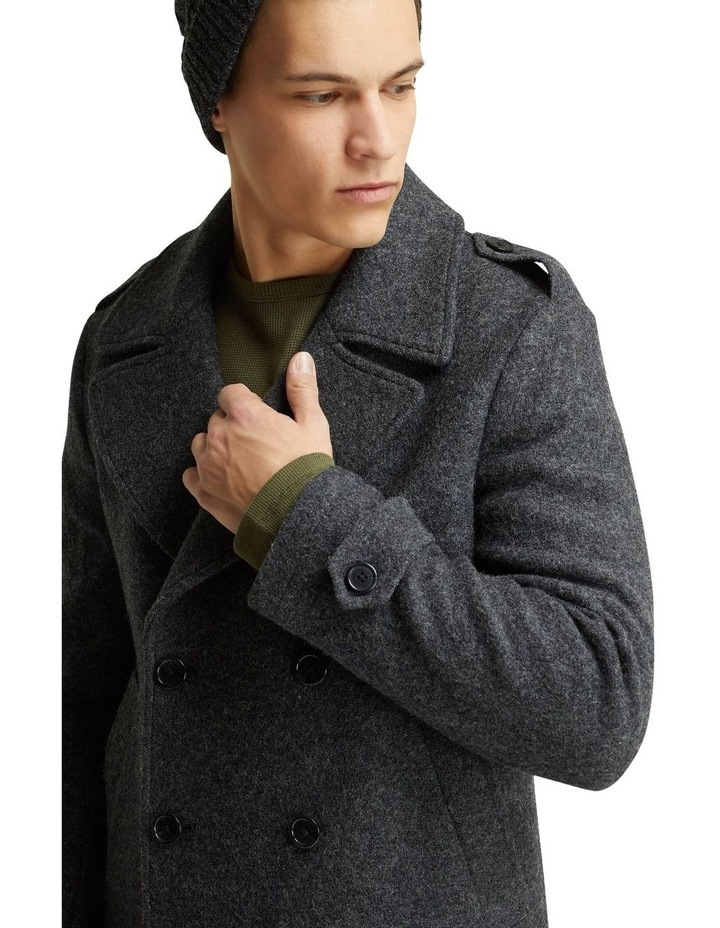 HENRY KNITTED PEA COAT image 4