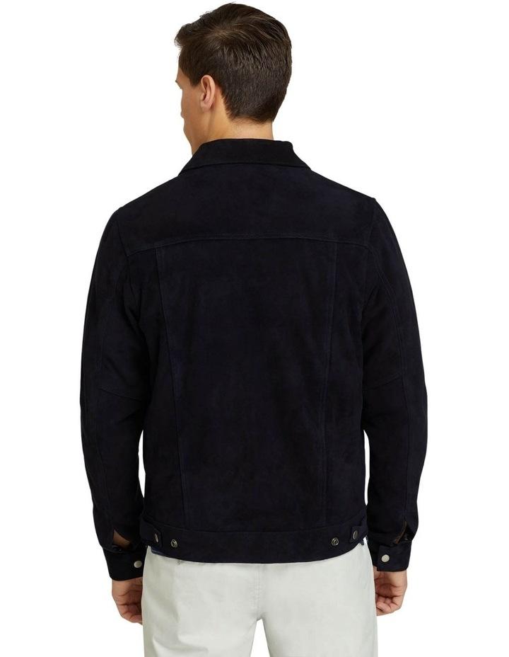 Oliver Goat Suede Leather Jacket image 3