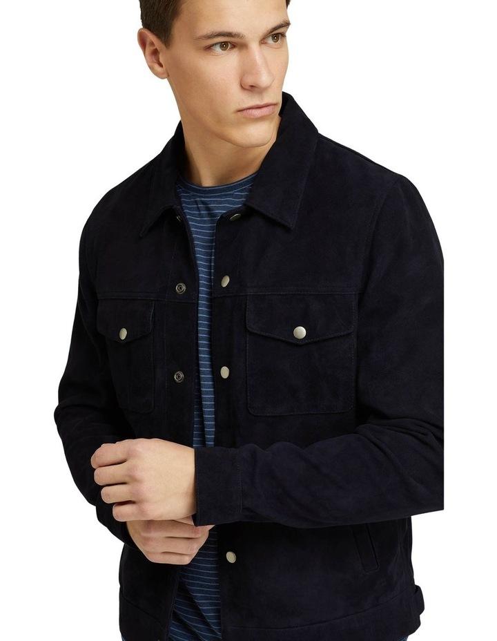 Oliver Goat Suede Leather Jacket image 4