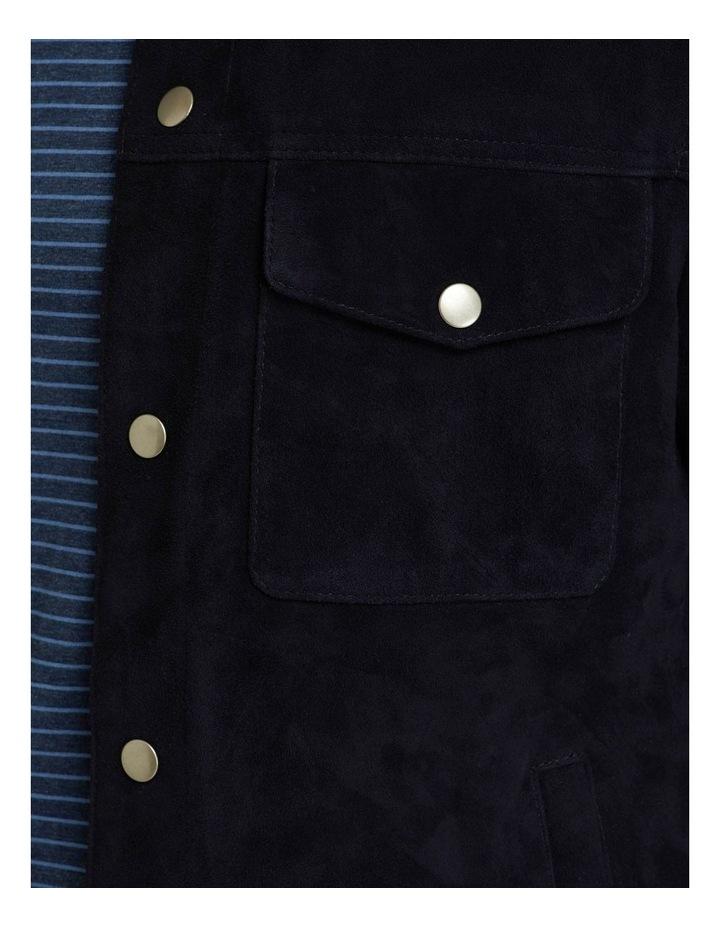 Oliver Goat Suede Leather Jacket image 6
