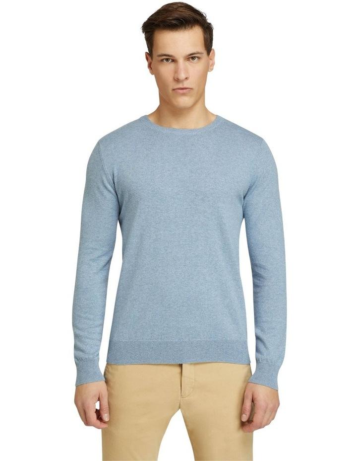 Crew Neck Cotton Cashmere Pullover image 1