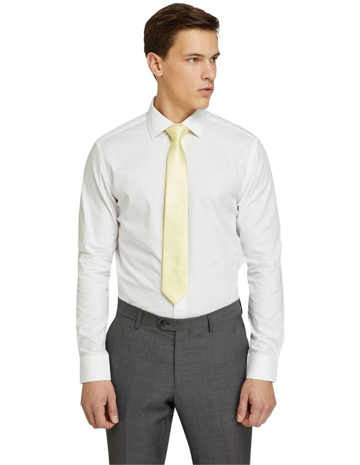 Islington Dobby Regular White Shirt image 1