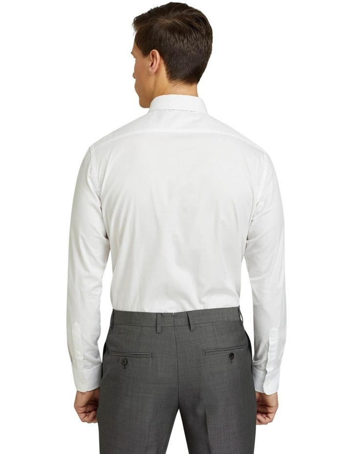 Islington Dobby Regular White Shirt image 3