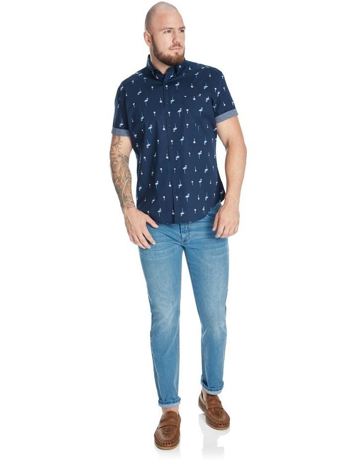 Flamingo Palm Stretch Shirt image 3