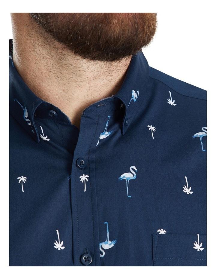Flamingo Palm Stretch Shirt image 4