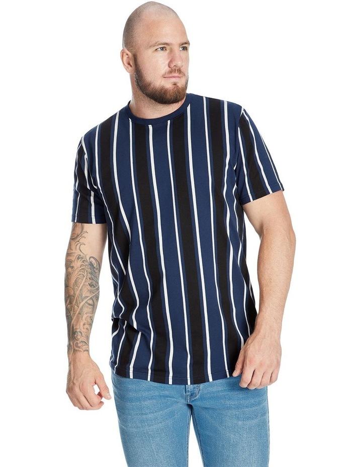 Vertical Stripe Longline Tee image 1