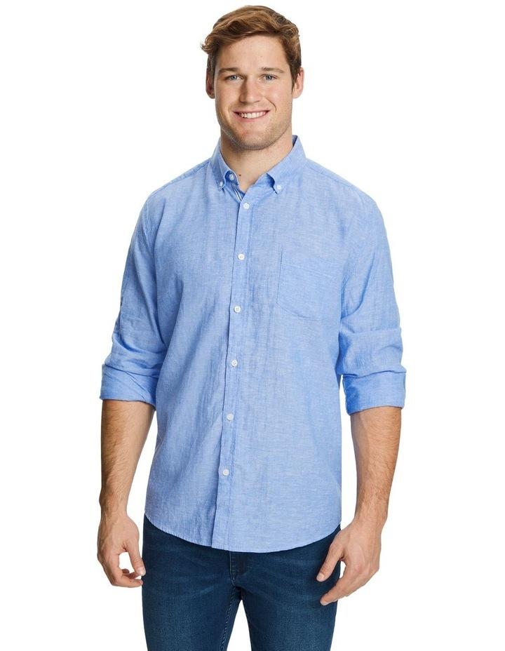 Serge Melange Linen Shirt image 1