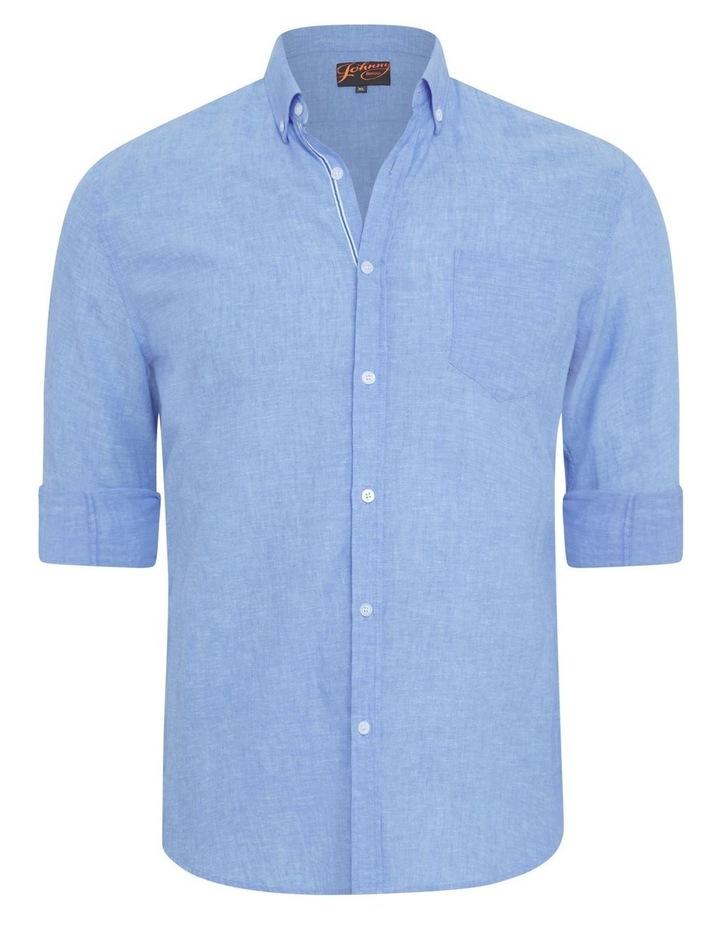 Serge Melange Linen Shirt image 5