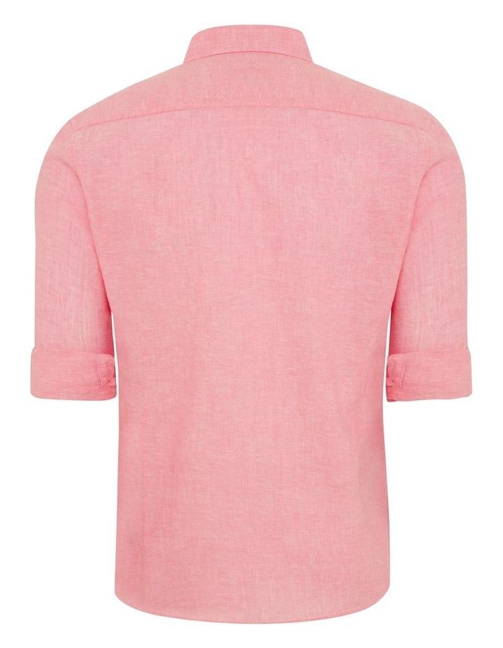 Serge Melange Linen Shirt image 7