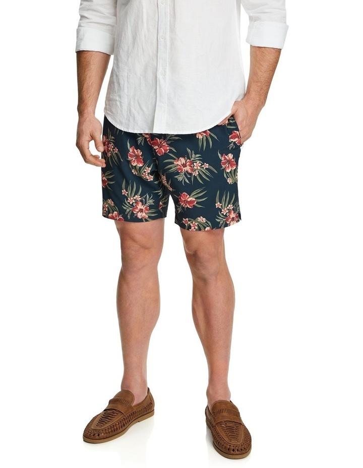 Floral Stretch Swim Shorts image 1