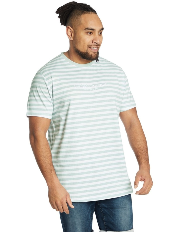 Global Stripe Longline Tee image 2
