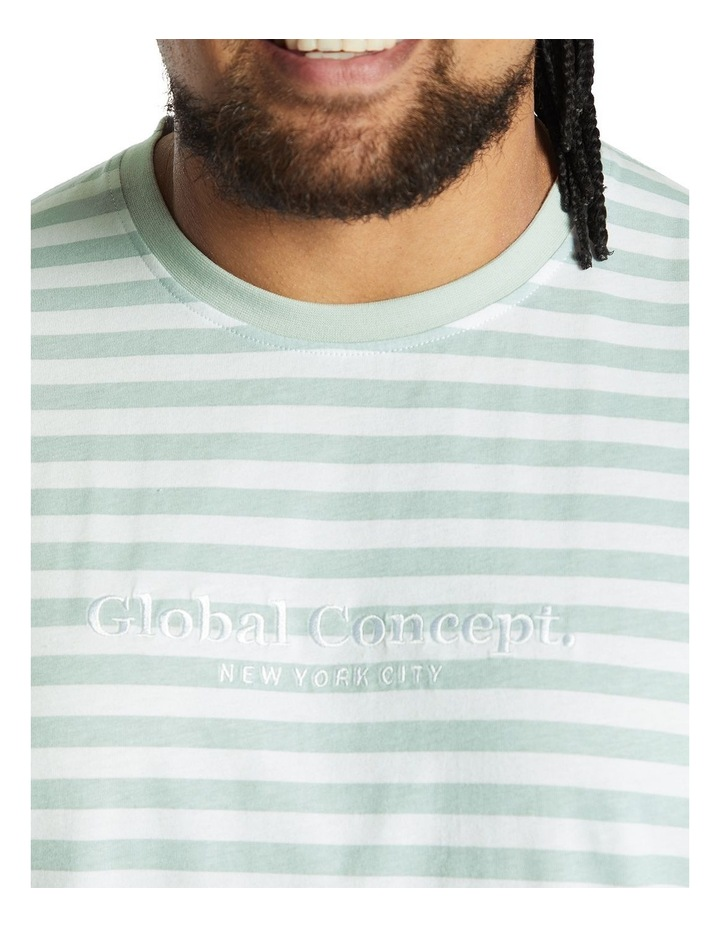 Global Stripe Longline Tee image 4