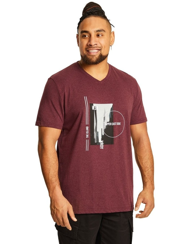 NY Photo Print V Neck Tee image 1