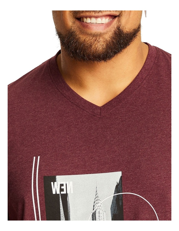 NY Photo Print V Neck Tee image 3