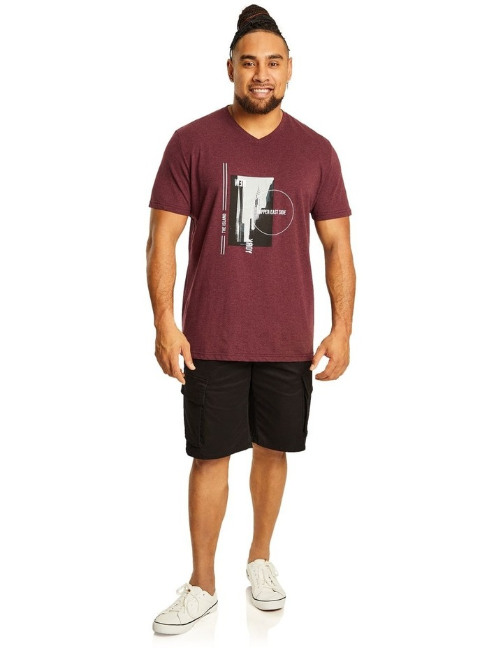 NY Photo Print V Neck Tee image 4
