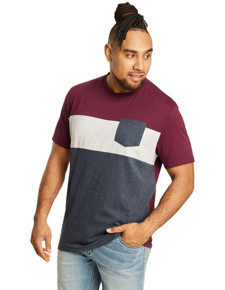 Spliced Contrast Pocket Tee image 1