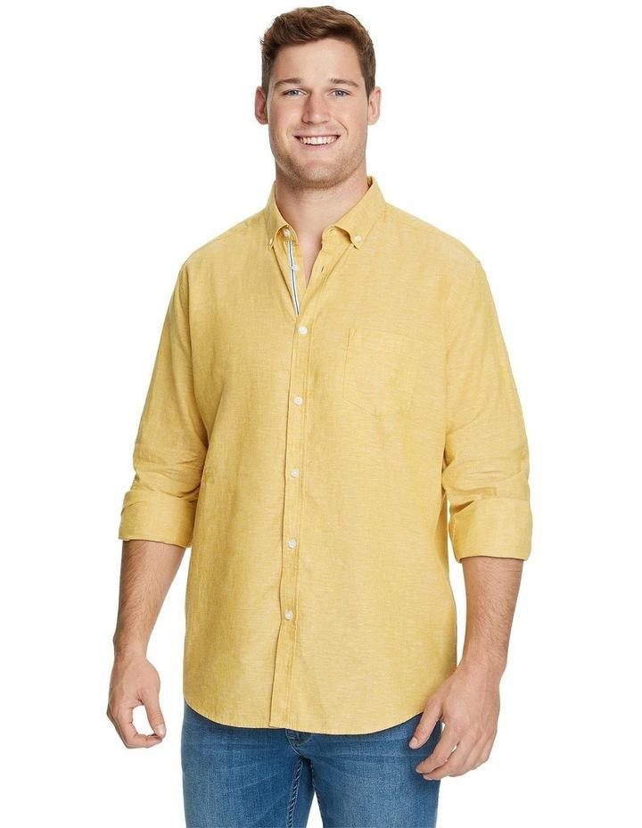 Serge Melange Linen Blend Shirt image 1