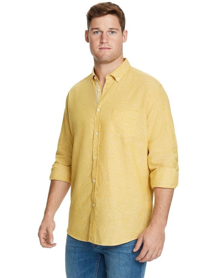 Serge Melange Linen Blend Shirt image 2