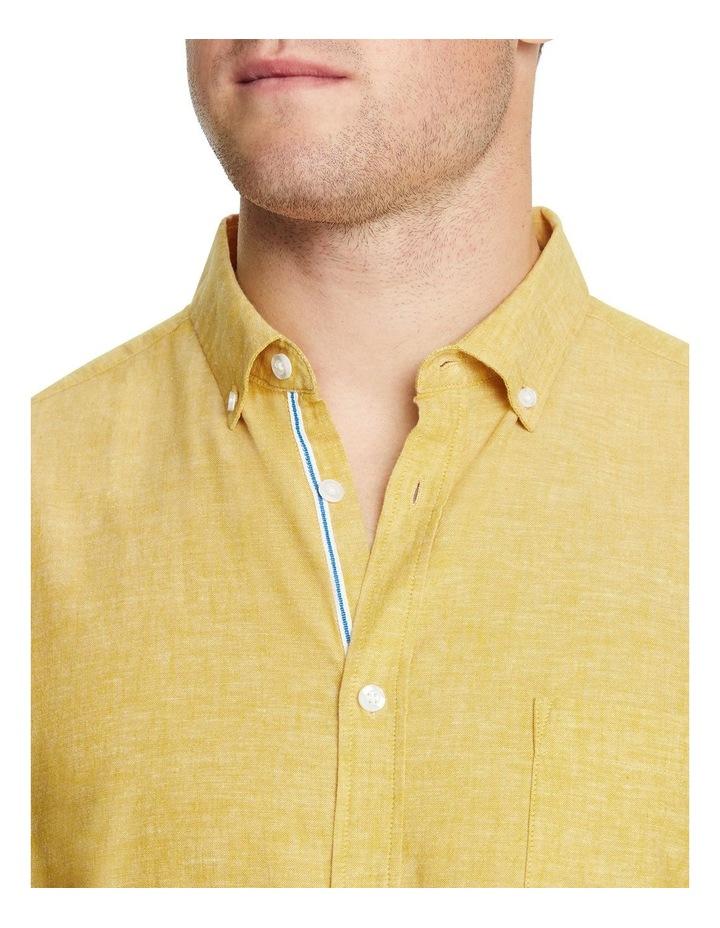 Serge Melange Linen Blend Shirt image 3